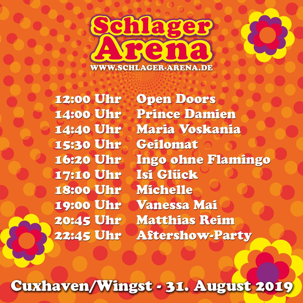 Schlager Arena Zeitplan